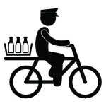 milk delivery by bike
